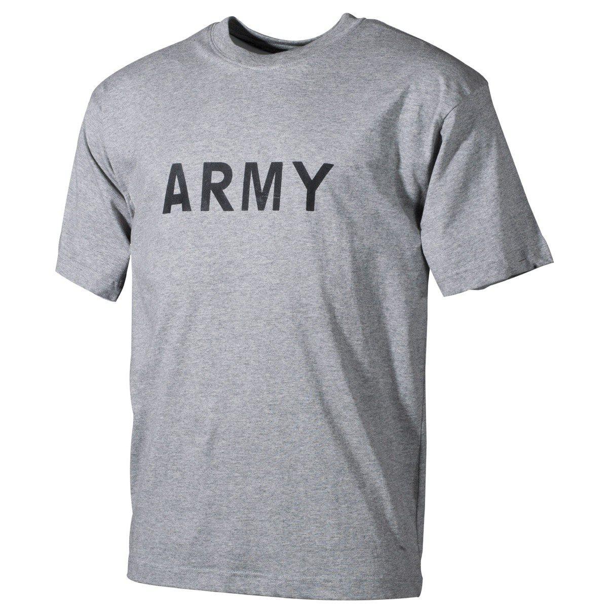 U.S. ARMY T-shirt GREY MFH int. comp. 00253M L-11