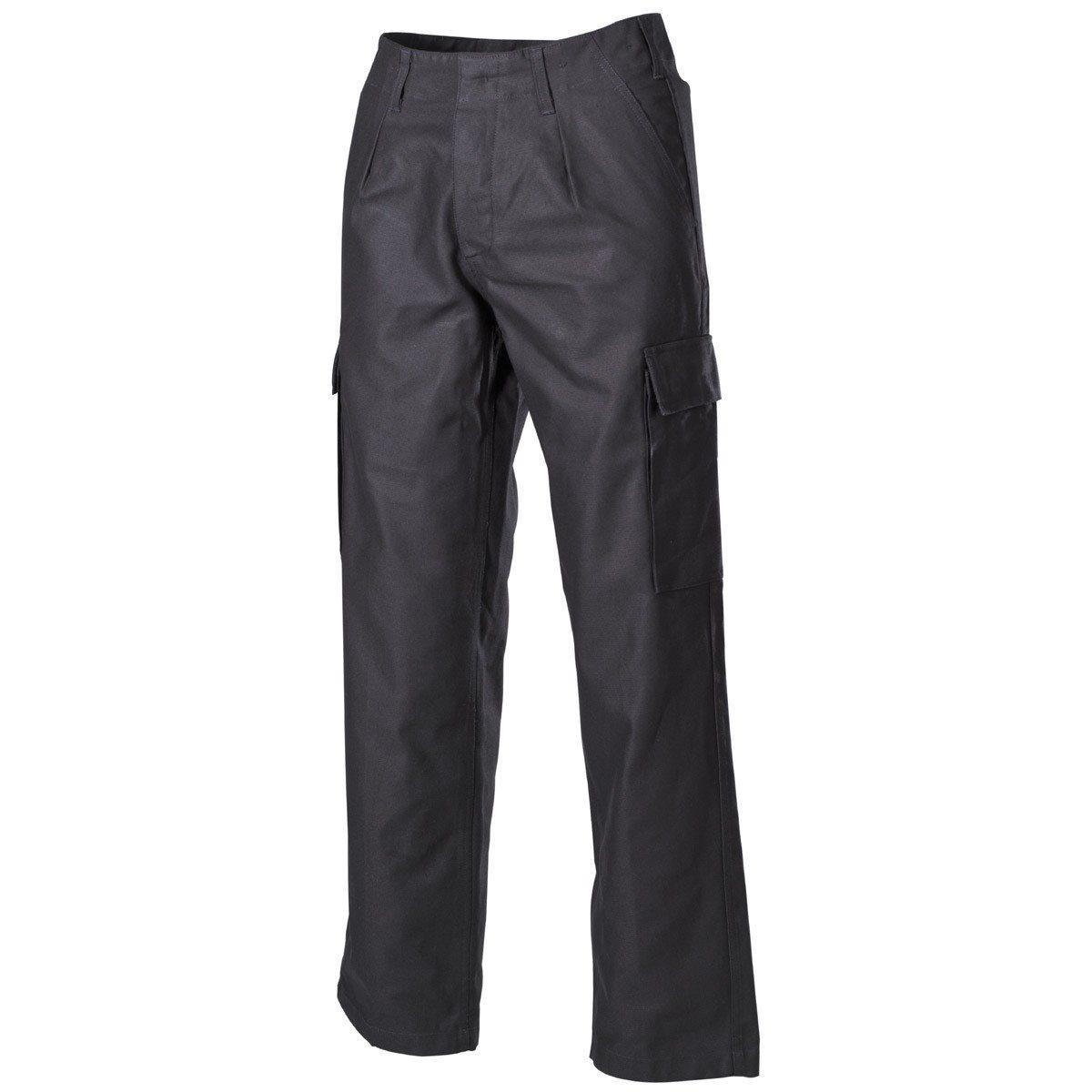 Pants BW moleskin BLACK MFH int. comp. 01102A L-11