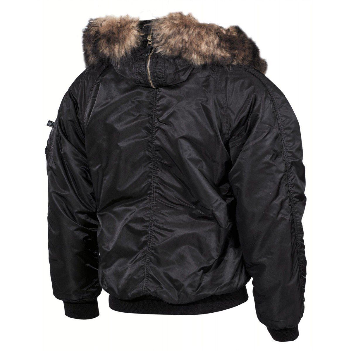 Jacket hooded N2B POLAR BLACK MFH int. comp. 03702A L-11