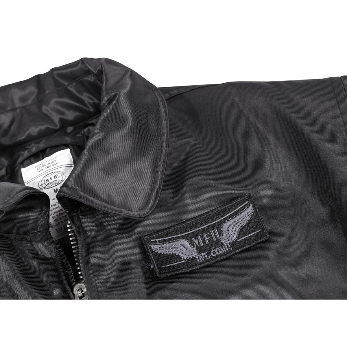 Jacket CWU solid material BLACK MFH int. comp. 03742A L-11