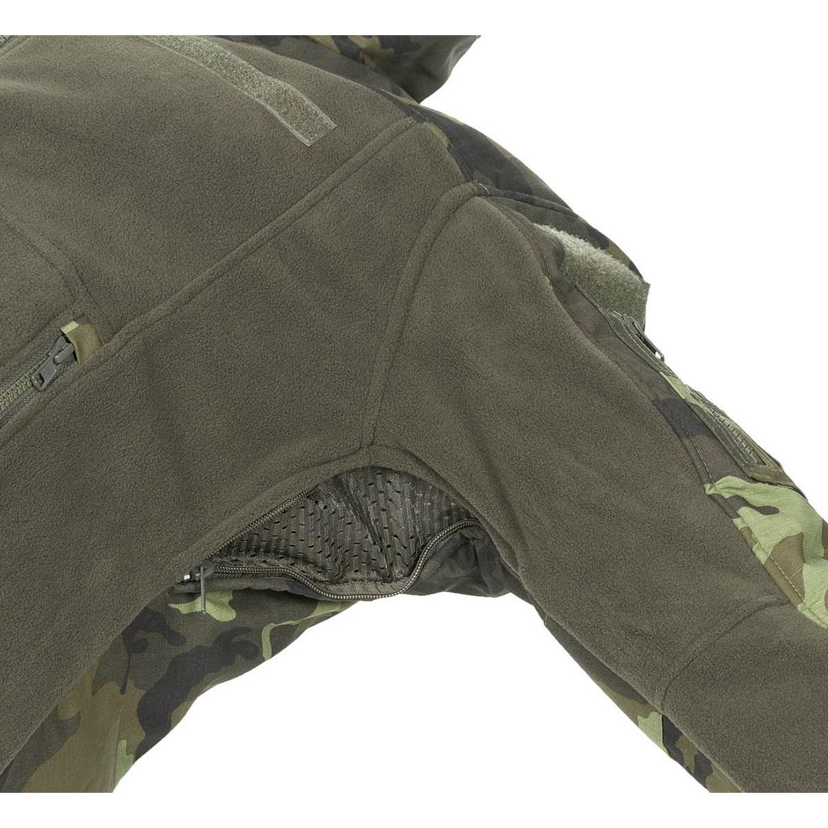 Tactical fleece jacket COMBAT czech CAMO 95 MFH Defence 03811J L-11