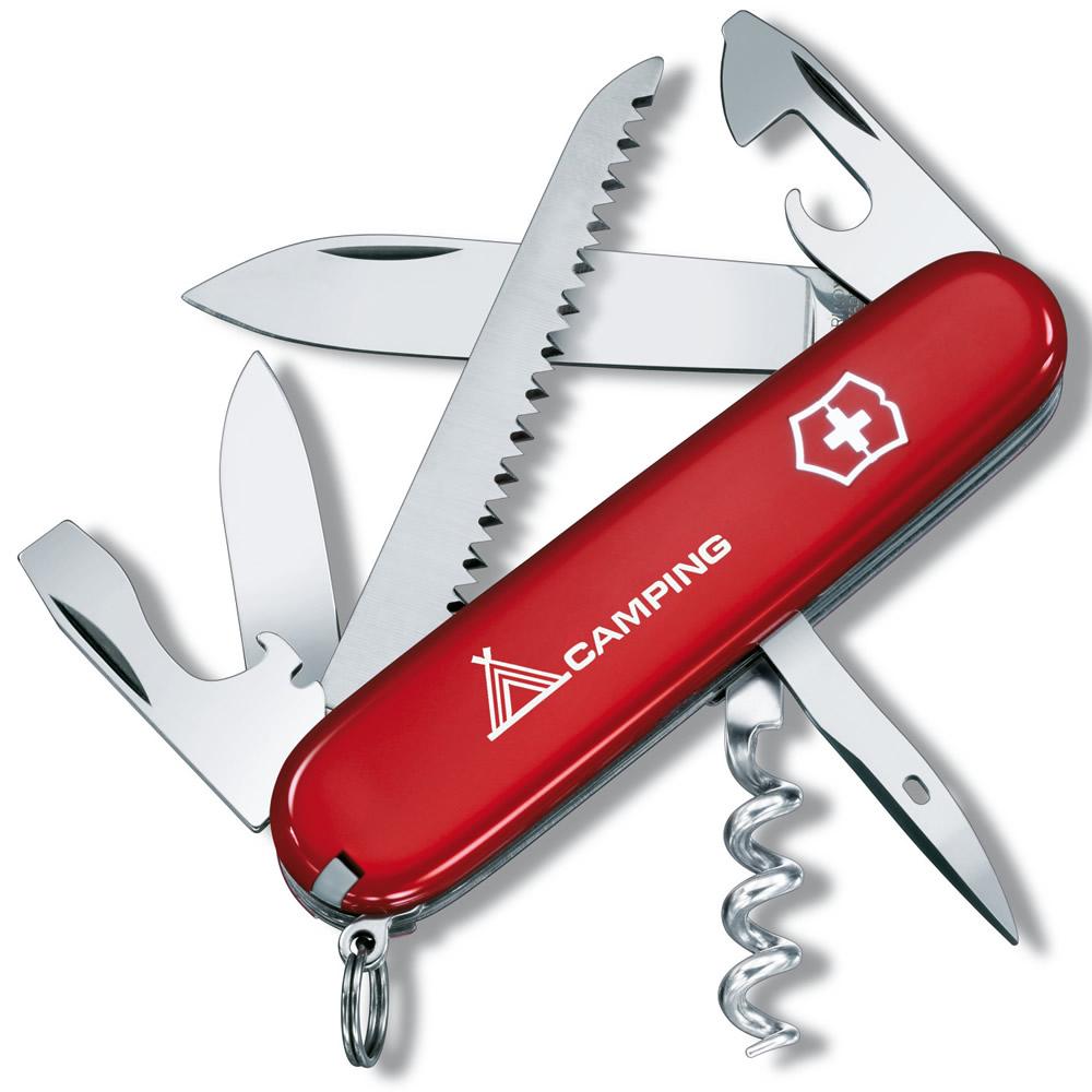 Pocket Knife RED CAMPER + sign VICTORINOX 1.3613.71 L-11