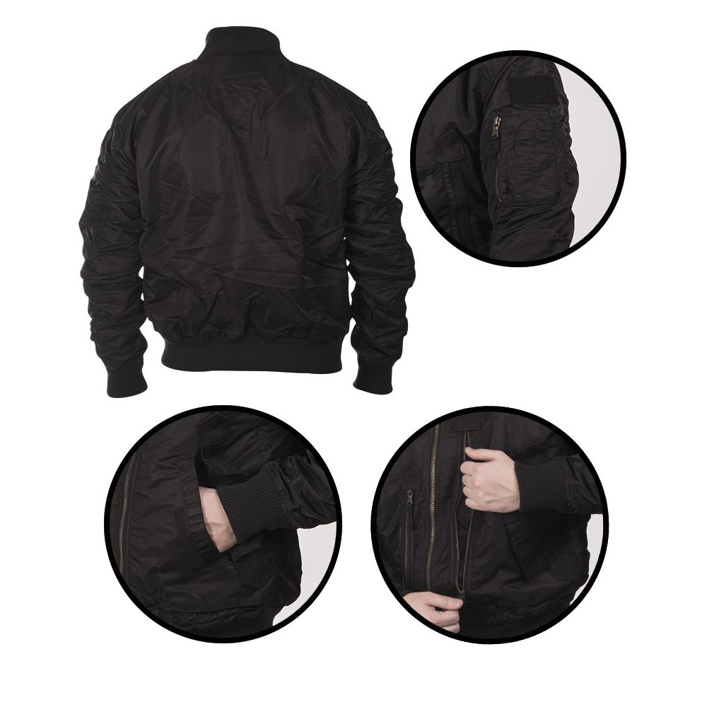 Pilot Jacket US TACTICAL BLACK MIL-TEC® 10404602 L-11