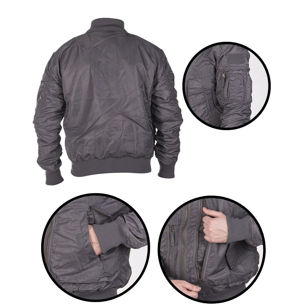 Pilot Jacket US TACTICAL GREY MIL-TEC® 10404608 L-11