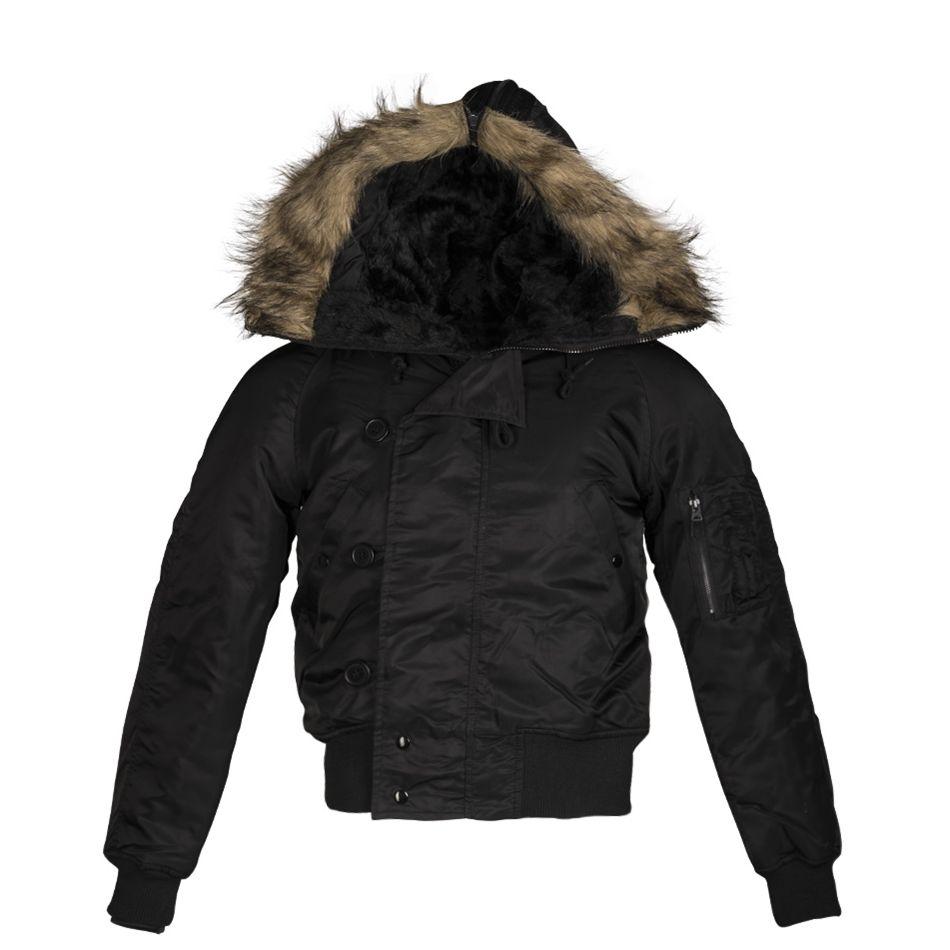 N-2B jacket pilot hooded BLACK TEESAR® 10410002 L-11