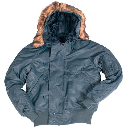 N-2B jacket pilot hooded BLUE TEESAR® 10410003 L-11