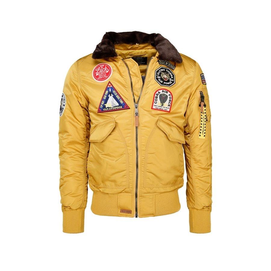 Aviation jacket TOP GUN FLYING TIGERS YELLOW MIL-TEC® 10430315 L-11