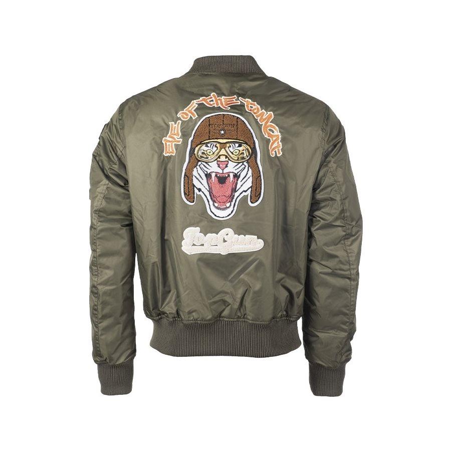 Top Gun Flight Jacket TOMCAT reversible OLIV/BLUE MIL-TEC® 10430501 L-11