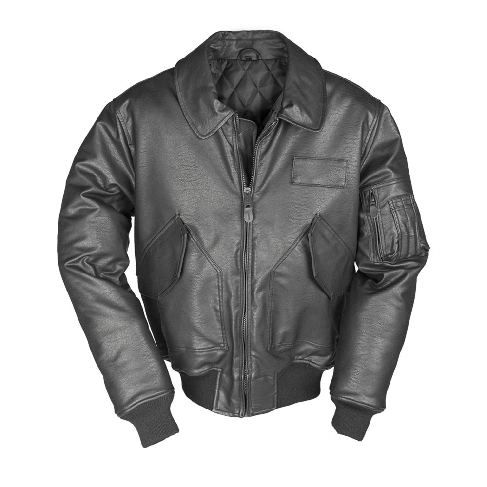 Pilot US CWU Jacket BLACK leather MIL-TEC® 10456002 L-11