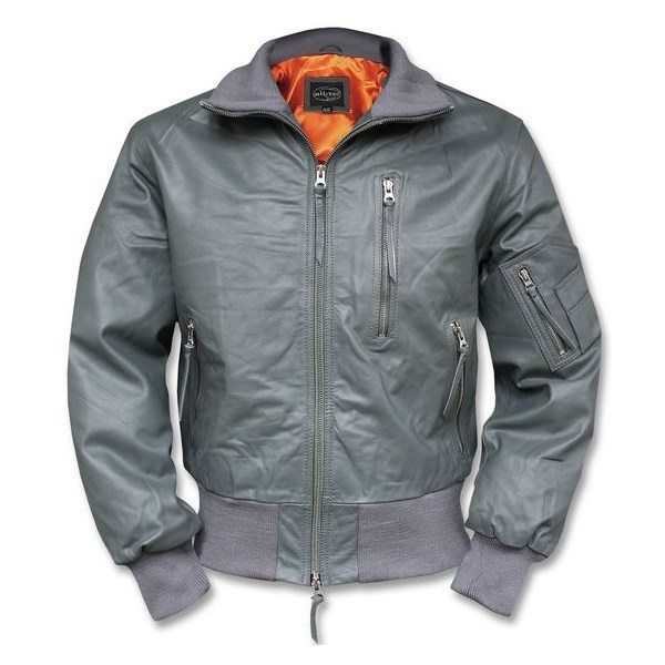 BW Leather Jacket AVIATOR GRAY MIL-TEC® 10461008 L-11