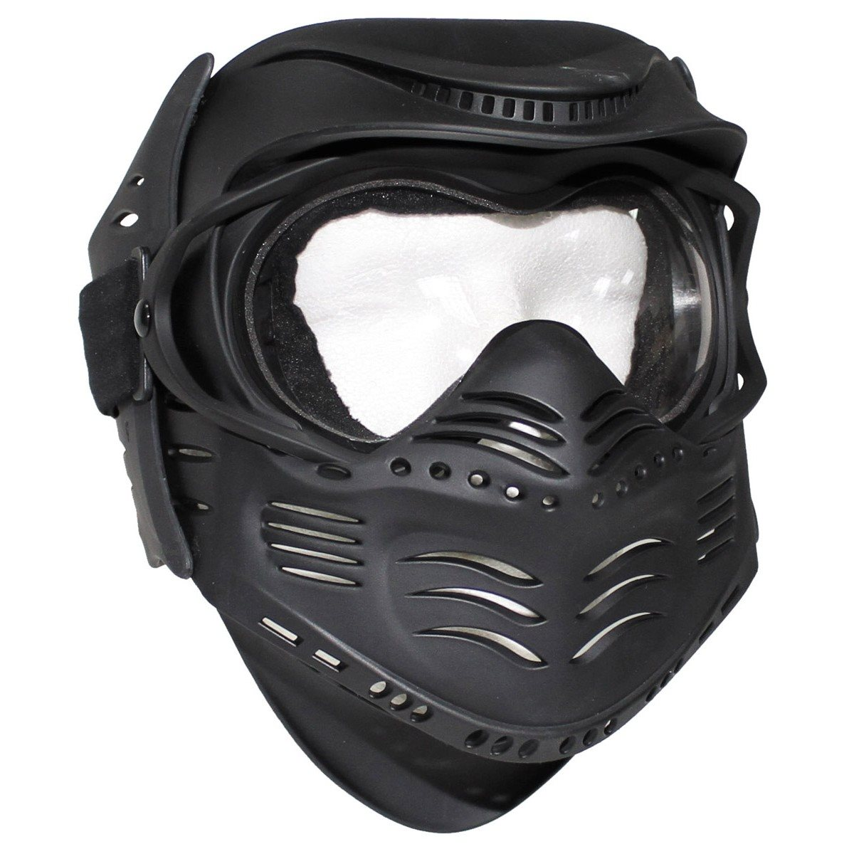 Protective paintball mask FIGHT BLACK MFH int. comp. 10610A L-11