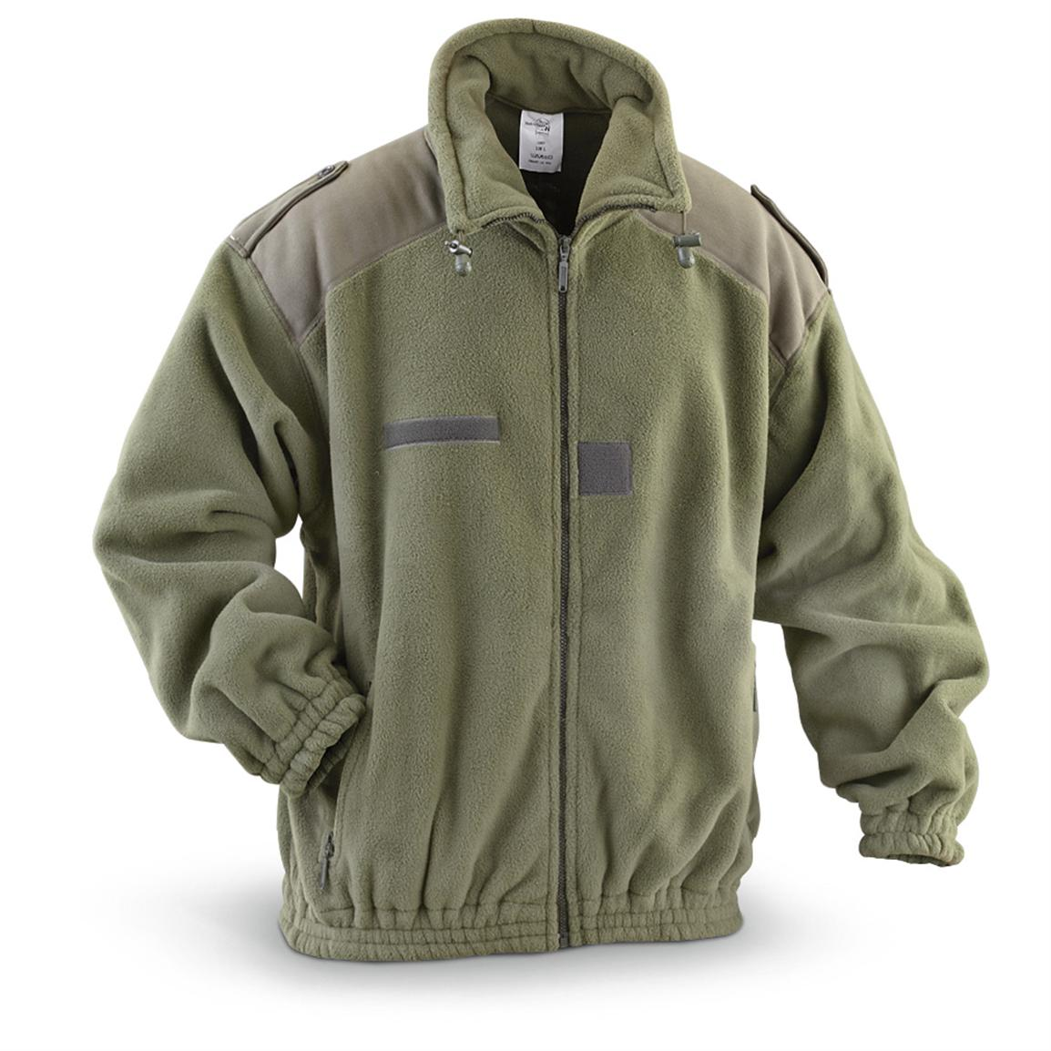 France fleece jacket OLIVE new French Army 108561 L-11