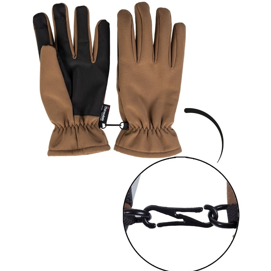 Gloves SOFTSHELL THINSULATE™ COYOTE MIL-TEC® 12521319 L-11