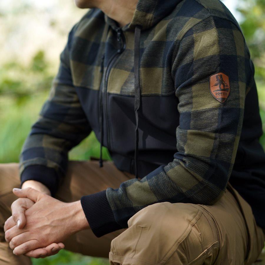 LUMBERSHELL Jacket BLACK/OLIVE FOSTEX 129535BO L-11