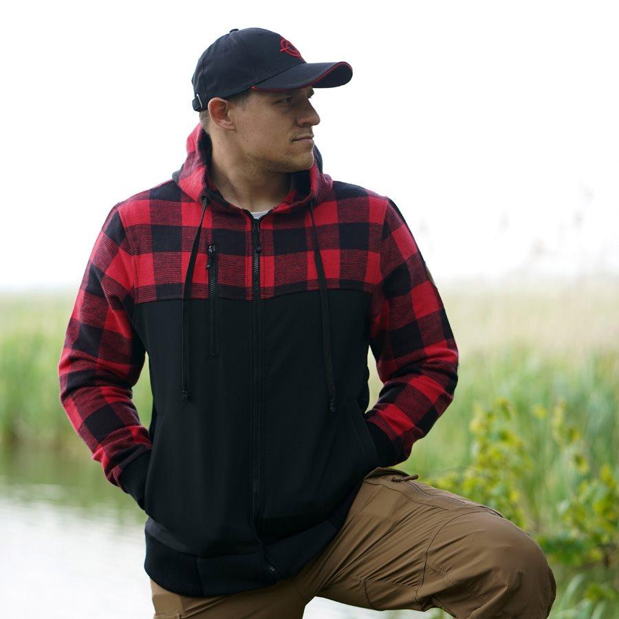 LUMBERSHELL Jacket BLACK/RED FOSTEX 129535BR L-11