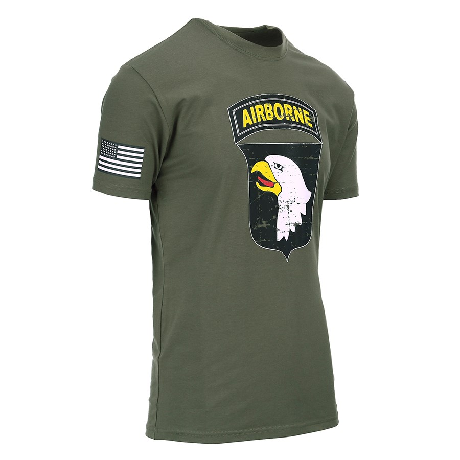 T-shirt 101st AIRBORNE GREEN FOSTEX 133622 L-11