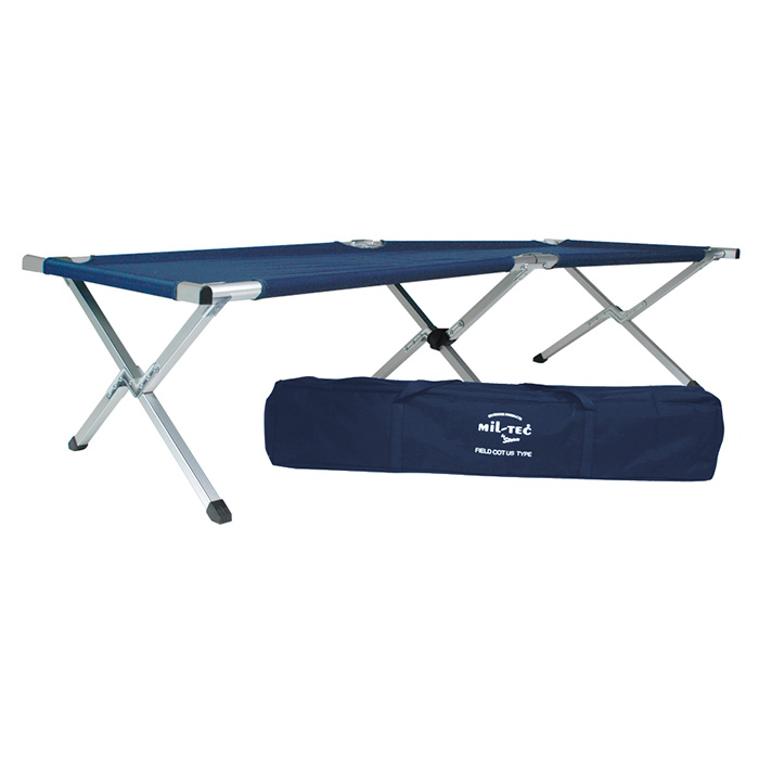 U.S. folding deck chair with AL frame in the package BLUE MIL-TEC® 14402003 L-11