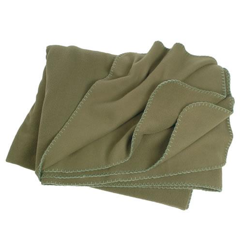 Blanket POLY FLEECE 150x200 box with OLIVE MIL-TEC® 14426001 -11