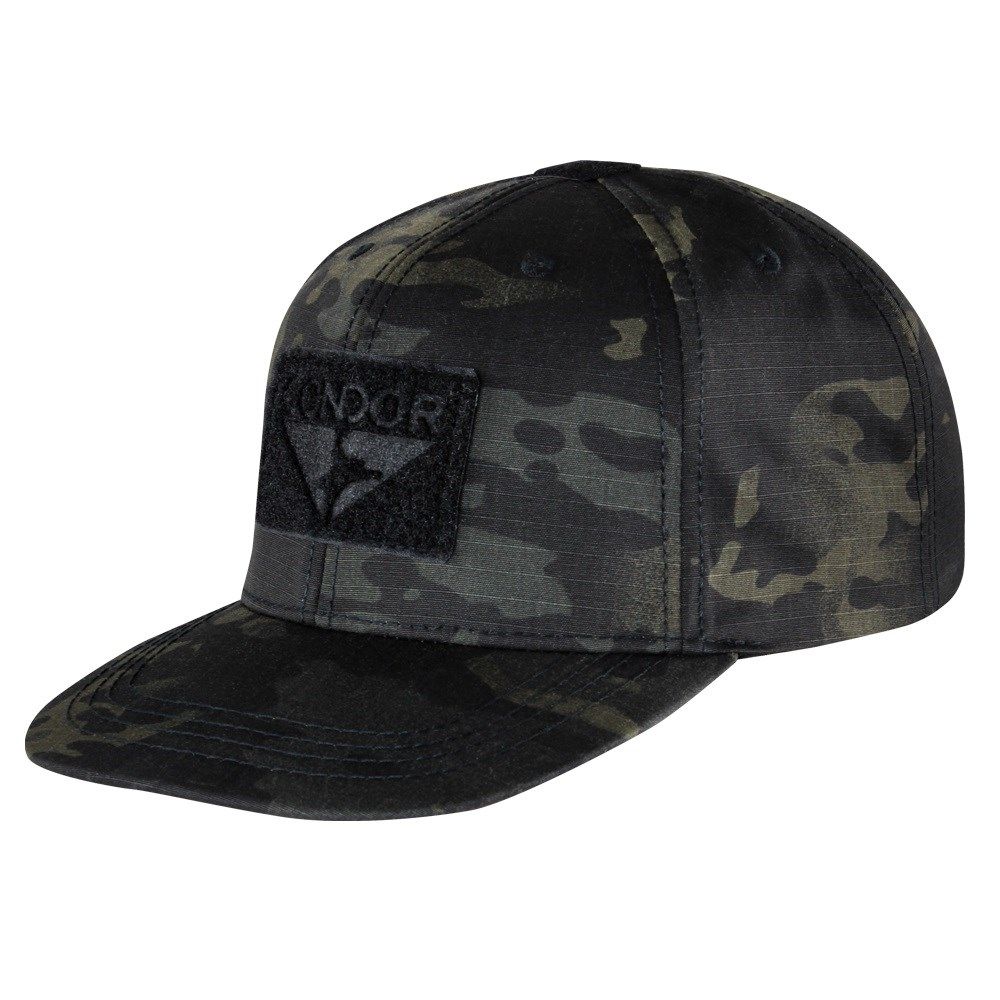 Flat Bill Snapback Hat with MULTICAM BLACK CONDOR OUTDOOR 161142-021 L-11