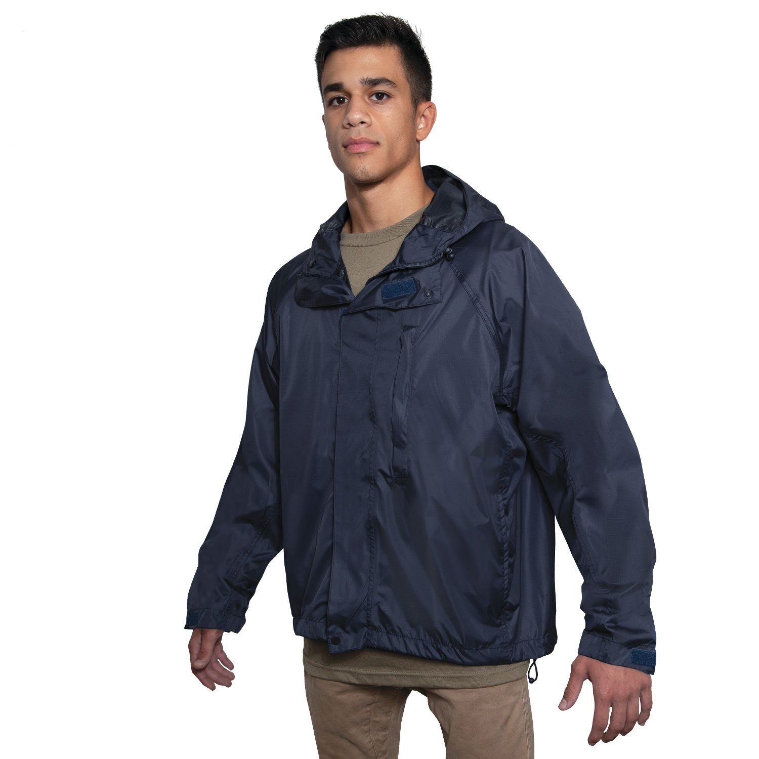 Lightweight waterproof jacket with hood NAVY BLUE ROTHCO 1874 L-11