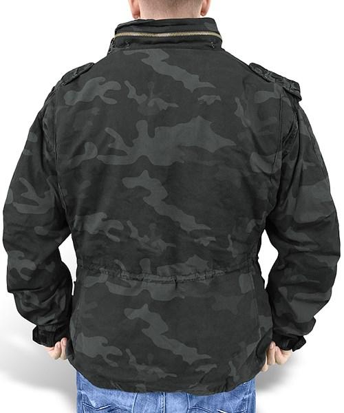 U.S. M65 Regiment Jacket with liner BLACK CAMO SURPLUS 20-2501-42 L-11