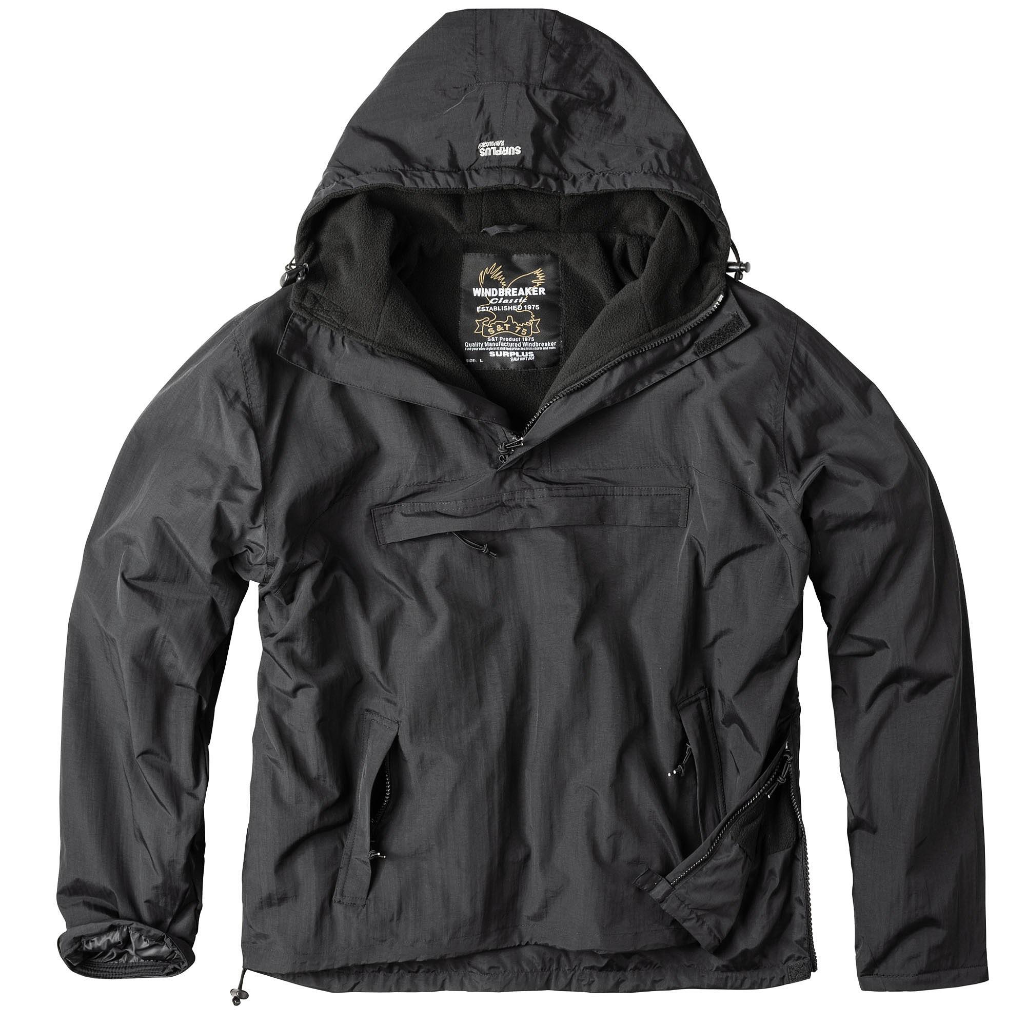 WINDBREAKER Jacket BLACK SURPLUS 20-7001-03 L-11
