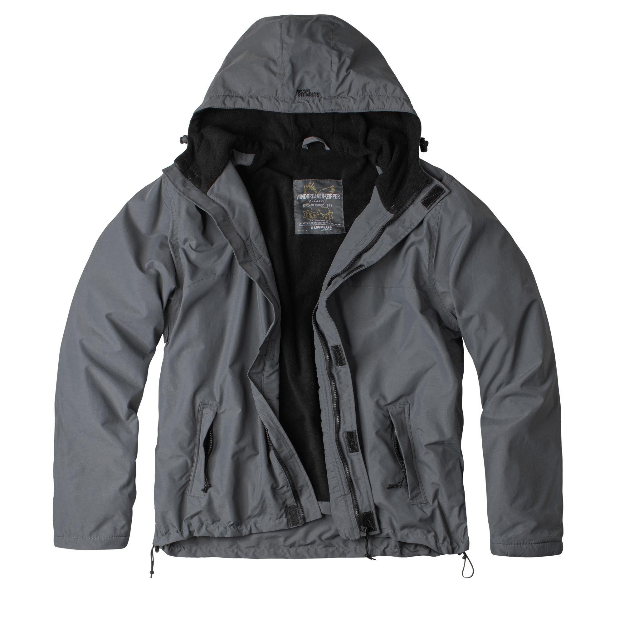 WINDBREAKER ZIPPER Jacket GREY SURPLUS 20-7002-04 L-11