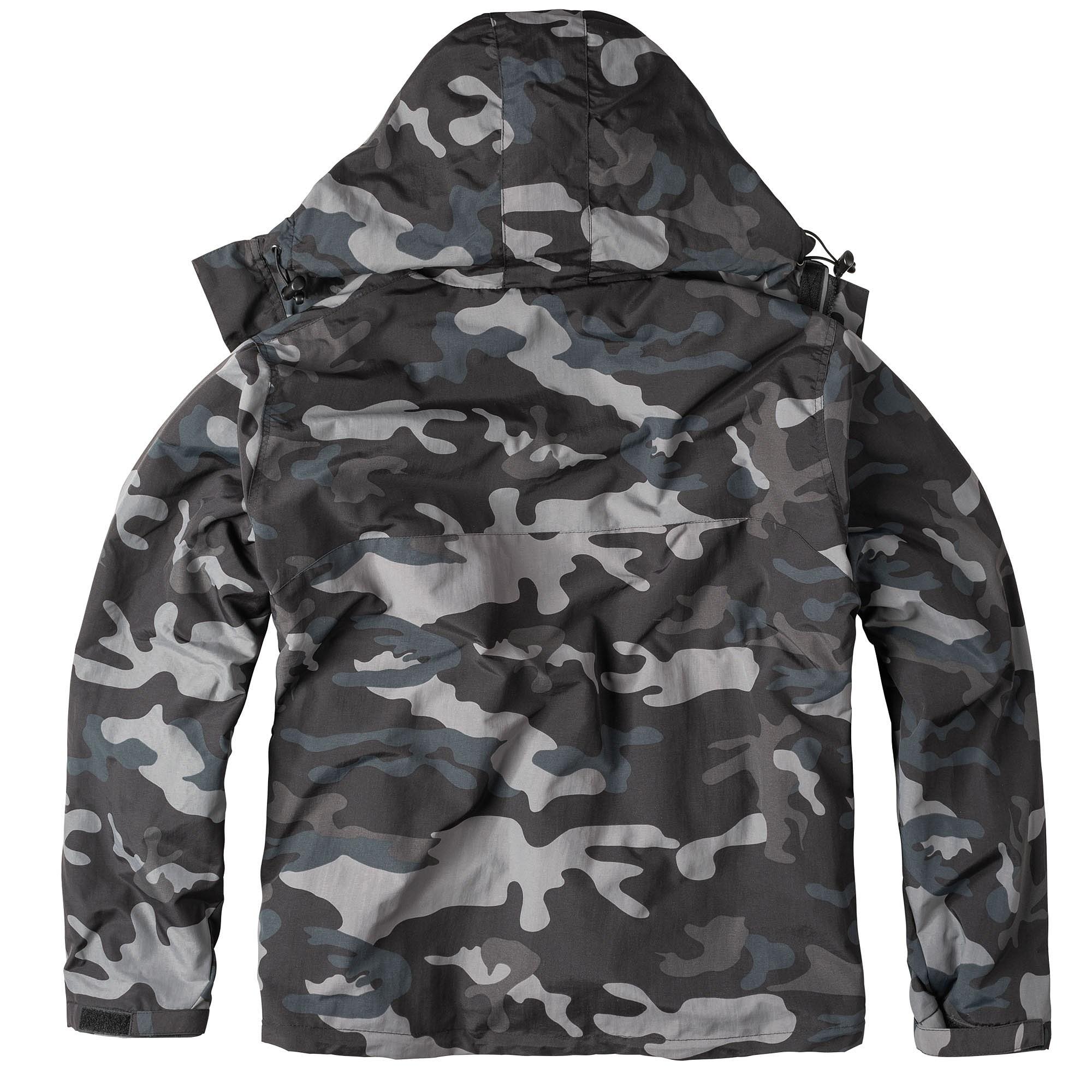 WINDBREAKER ZIPPER Jacket BLACK CAMO SURPLUS 20-7002-42 L-11