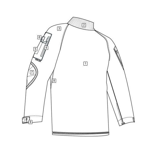 Tactical Combat Shirt rip-stop ACU DIGITAL TRU-SPEC 25510 L-11