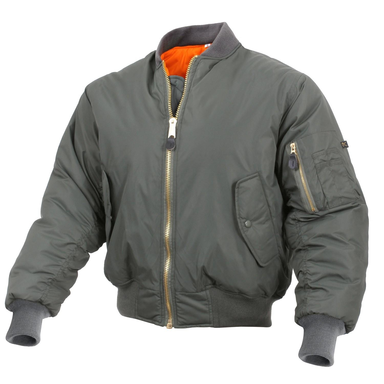 Enhanced Nylon MA-1 Flight Jacket SAGE ROTHCO 2860 L-11