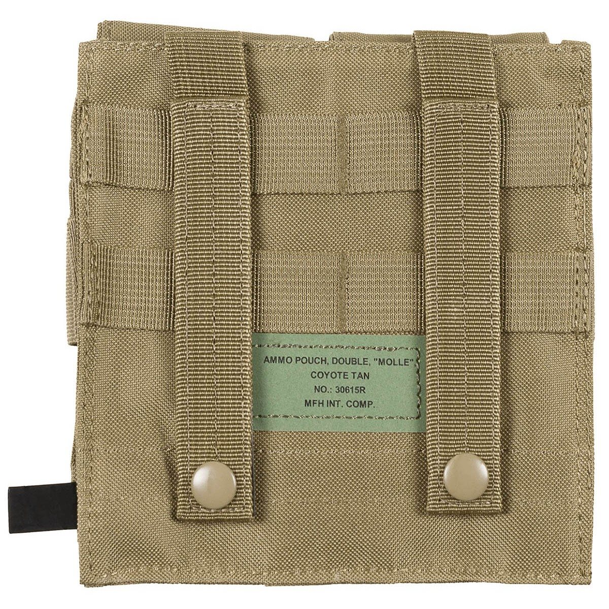 Pouch MOLLE Double M4/M16 COYOTE BROWN MFH int. comp. 30615R L-11