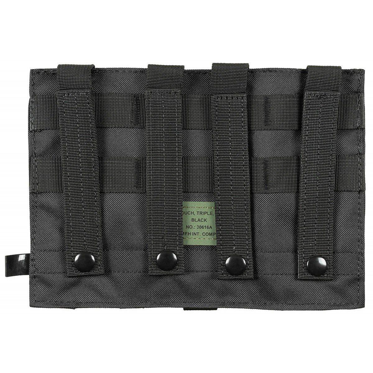 Triple MOLLE pouch M4/M16 BLACK MFH int. comp. 30616A L-11