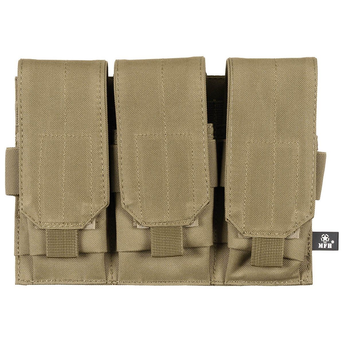 MOLLE Pouch for M4/M16 Triple COYOTE BROWN MFH int. comp. 30616R L-11