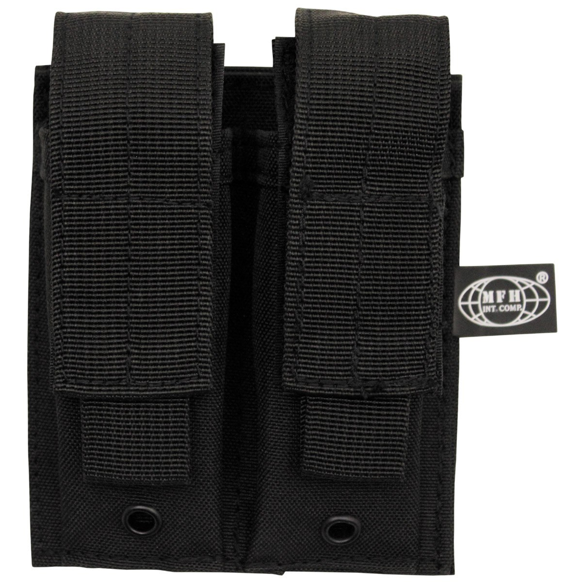 MOLLE double pouch for pistol magazines BLACK MFH int. comp. 30617A L-11