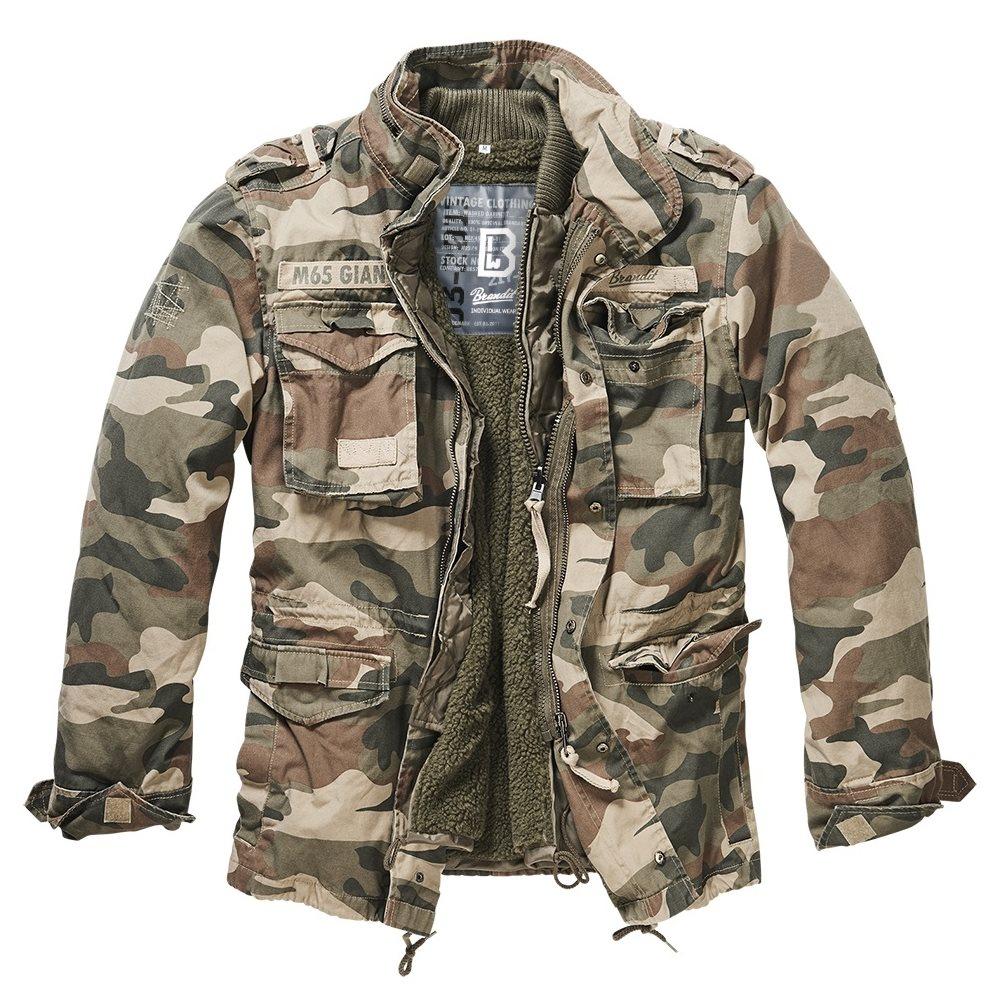 Jacket M65 GIANT LIGHT WOODLAND BRANDIT 3101-107 L-11