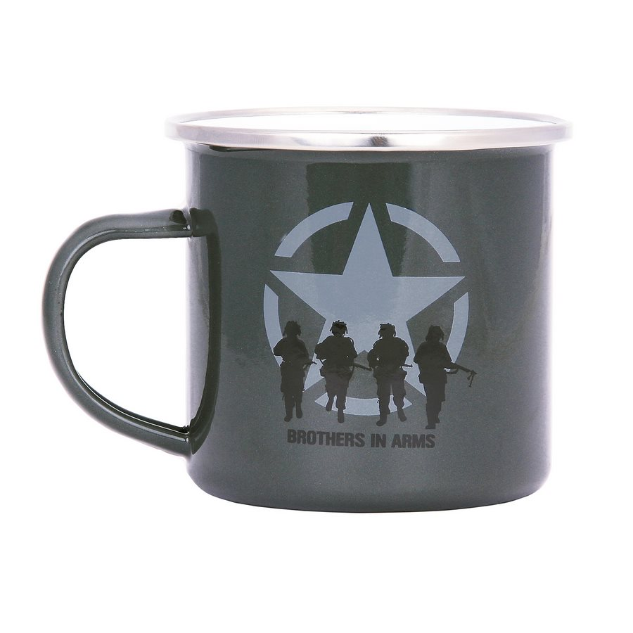 Enamel mug BROTHERS IN ARMS 300 ml GREEN FOSCO 311066GR L-11