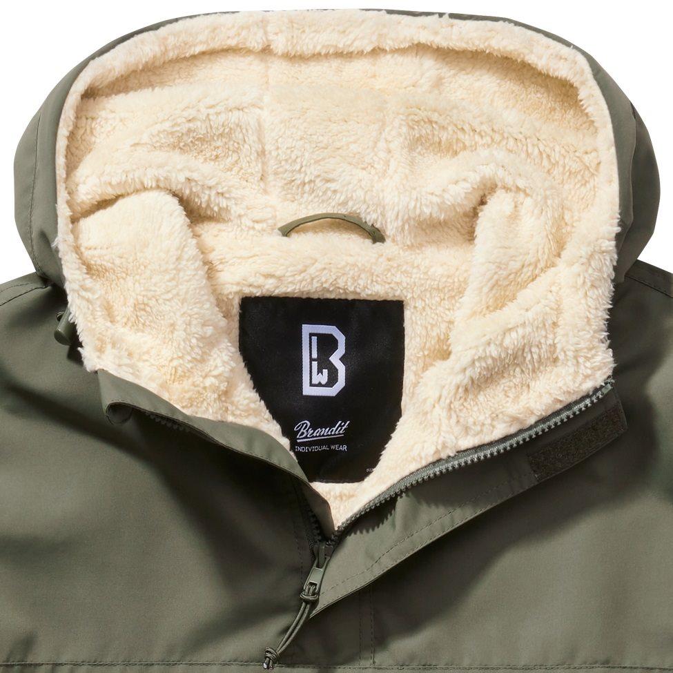 Jacket WINDBREAKER SHERPA OLIVE BRANDIT 3173-1 L-11