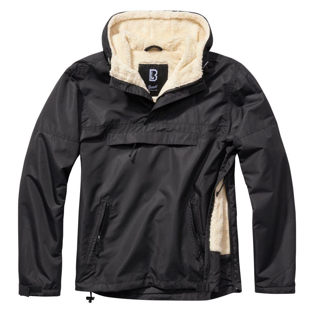Jacket WINDBREAKER SHERPA BLACK BRANDIT 3173-2 L-11