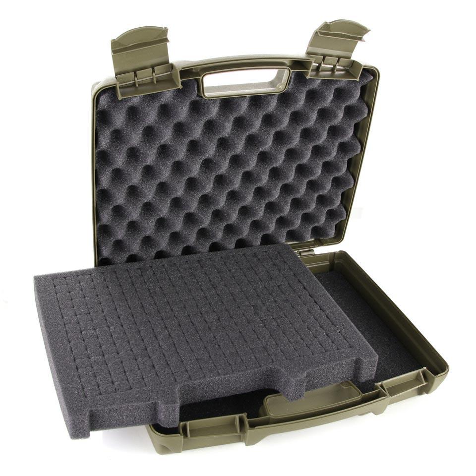 Pistol Plastic Case Pre-Cut Foam GREEN 101INC 359931OD L-11