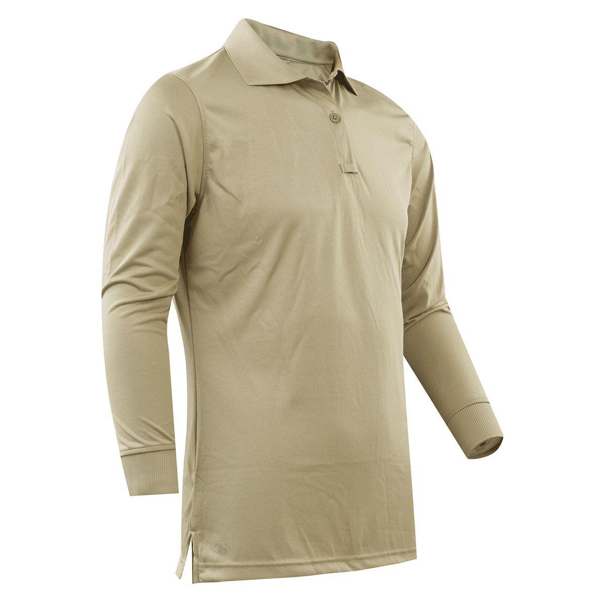 Polo womens long sleeve 24-7 PERFORMANCE SILVER TAN TRU-SPEC 24-7 44870 L-11