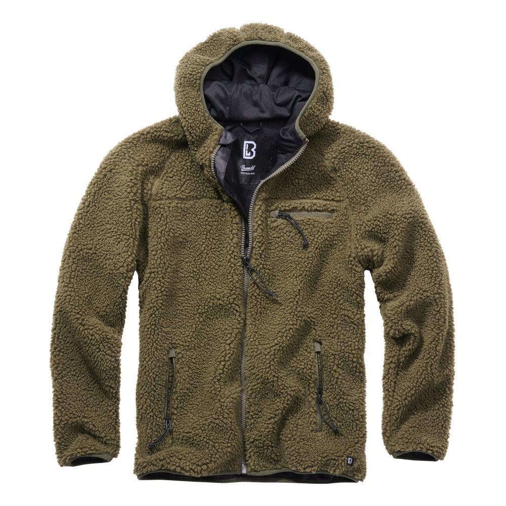 Teddyfleece Worker Jacket OLIVE BRANDIT 5024-1 L-11