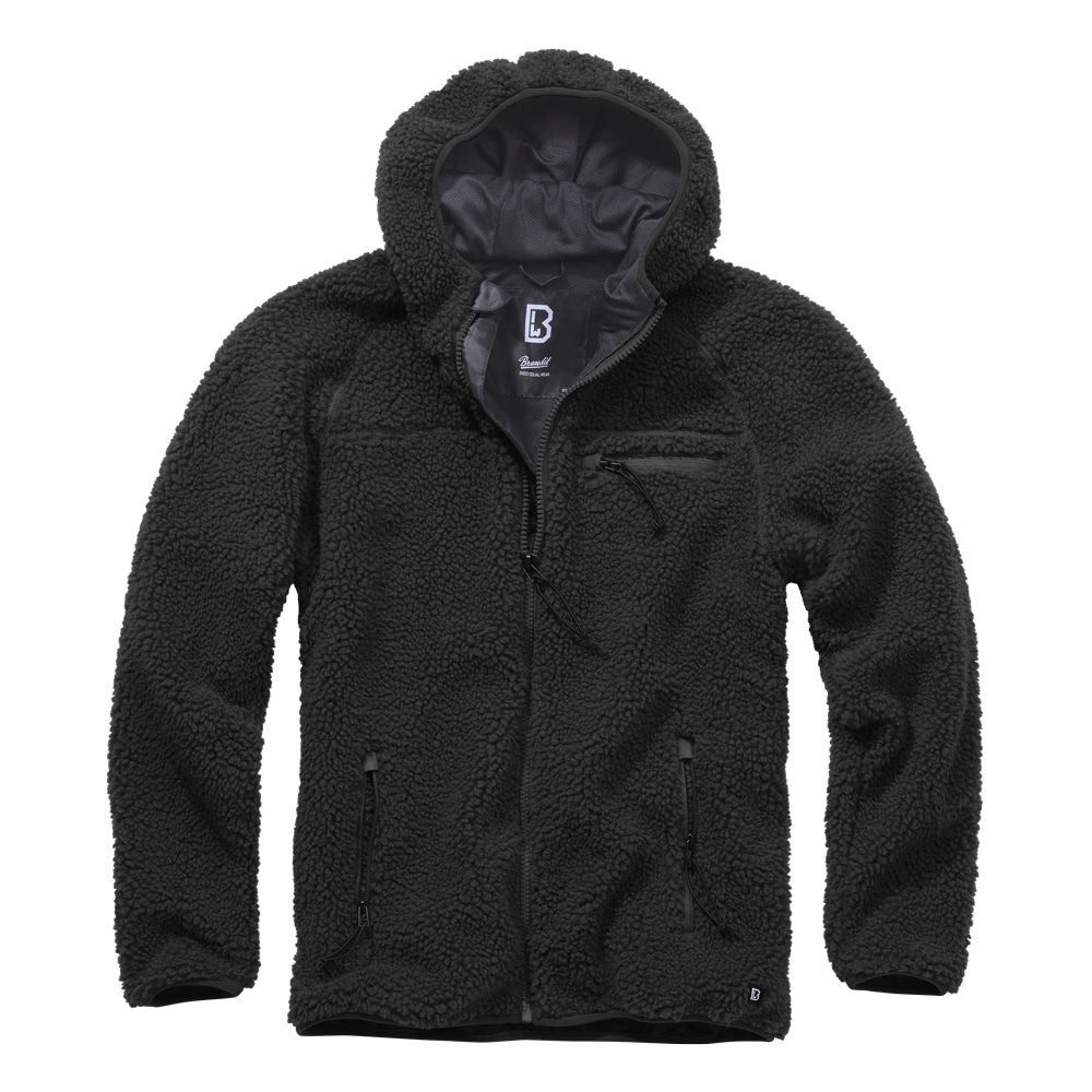 Teddyfleece Worker Jacket BLACK BRANDIT 5024-2 L-11