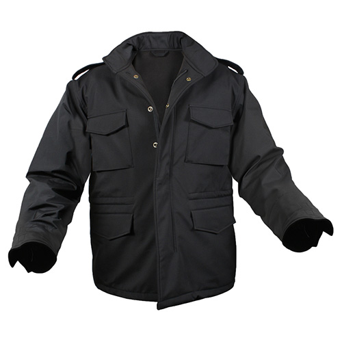 Jacket U.S. M65 SOFT SHELL BLACK ROTHCO 5247 L-11