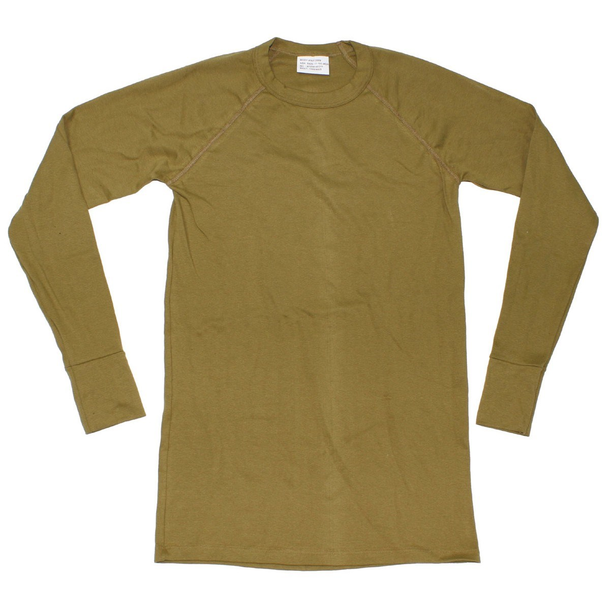 Dutch long sleeve shirt BROWN used Dutch Army 91123100 L-11