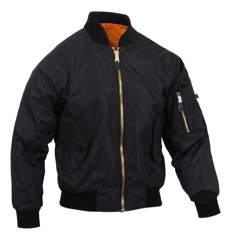 Jacket MA1 FLIGHT BLACK ROTHCO 6320 L-11