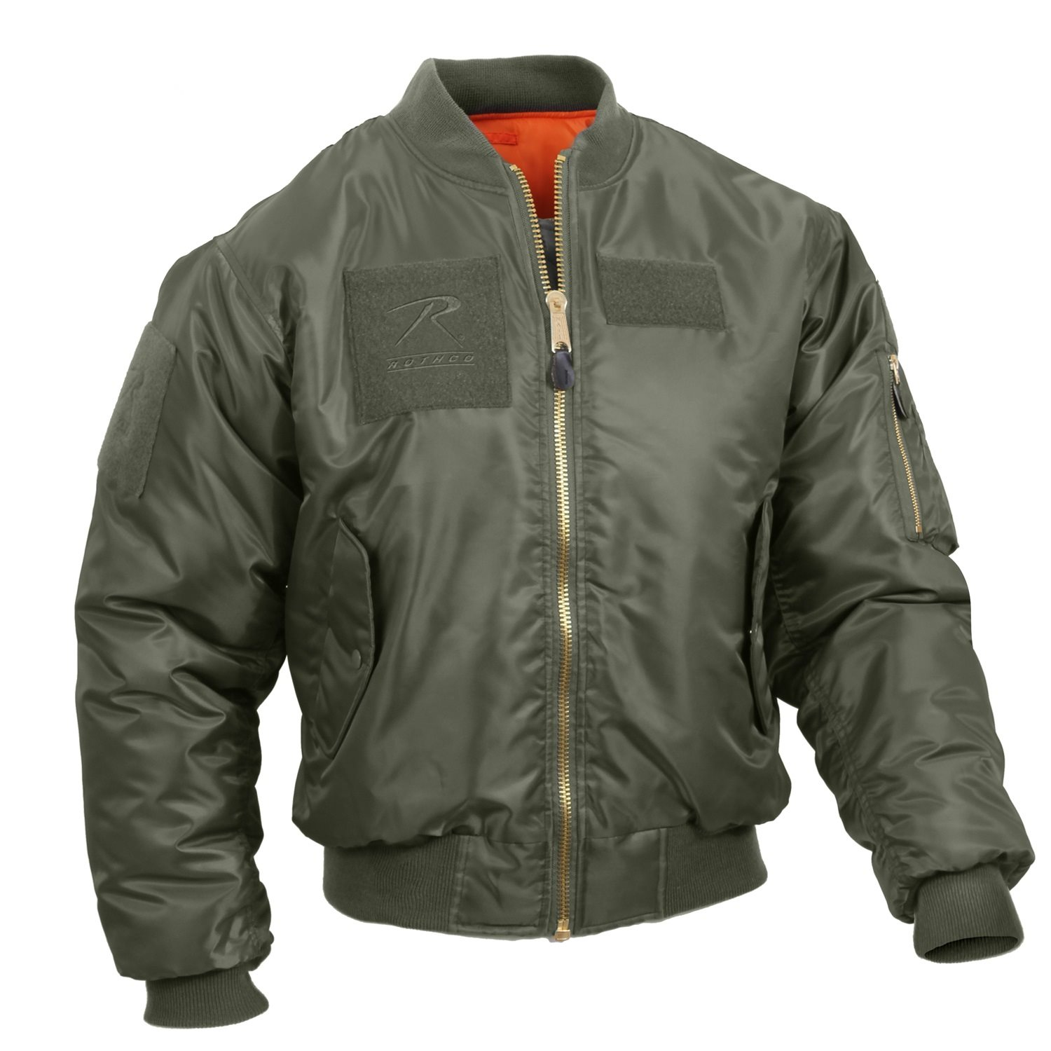 Jacket with patches MA1 FLIGHT SAGE GREEN ROTHCO 7240 L-11