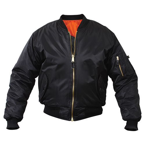 Jacket ULTRA FORCE MA1 FLIGHT BLACK ROTHCO 7324 L-11