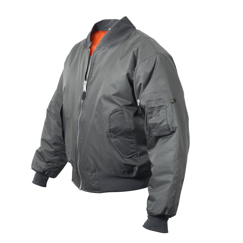 Jacket ULTRA FORCE MA1 FLIGHT GUN METAL GREY ROTHCO 7350 L-11