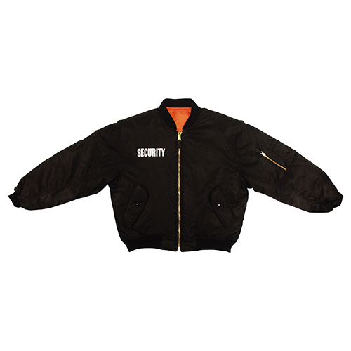 Jacket MA1 FLIGHT SECURITY BLACK ROTHCO 7357 L-11