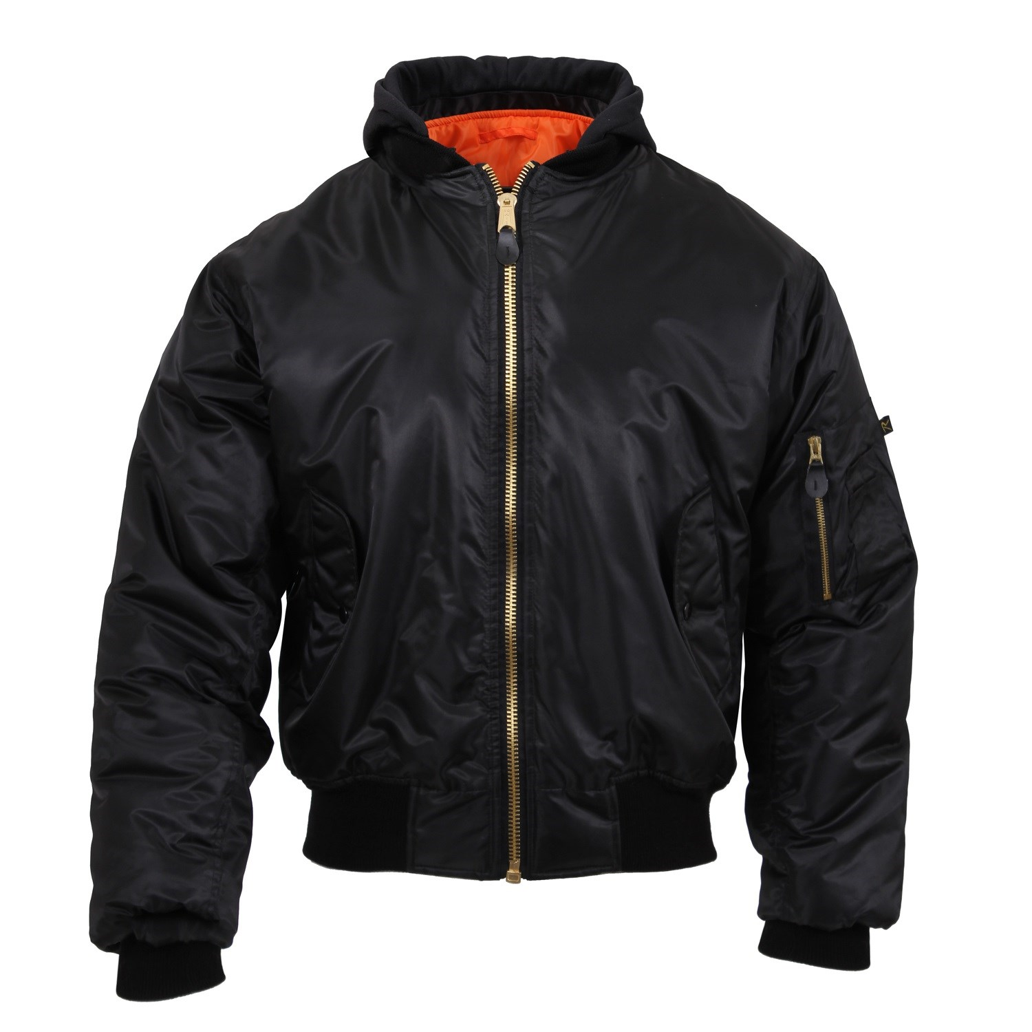 Jacket ULTRA FORCE MA1 FLIGHT BLACK ROTHCO 7400 L-11